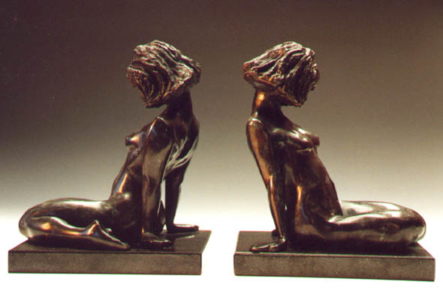 Sitting Girl - Book Ends