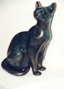 Sitting Cat Bronze Sculpture
