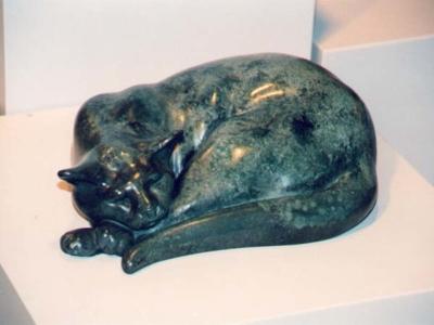 Sleeping Tom Bronze Sculpture