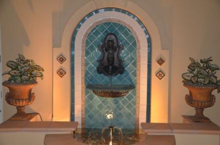 Inner courtyard bronze Seahorse wall fountain