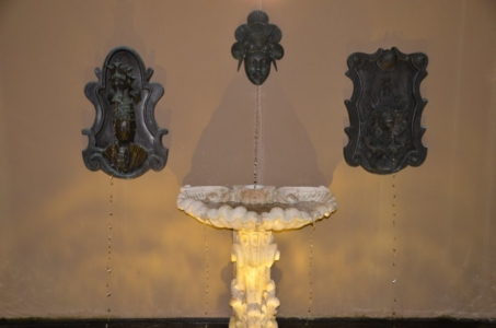 Wall Feature of bronze sculptures of Seahorse with Sea Fantasia and Sea Goddess