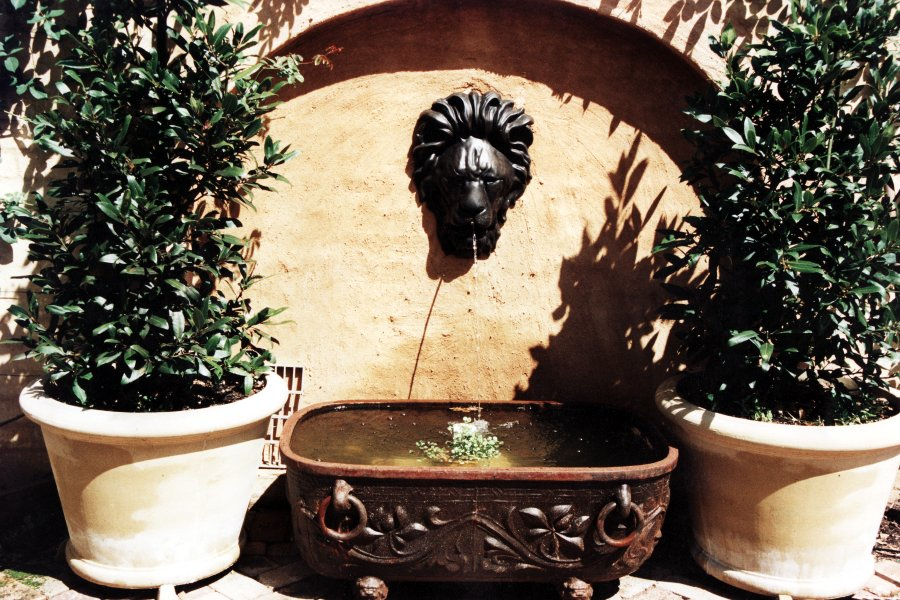 Bronze water feature for the garden